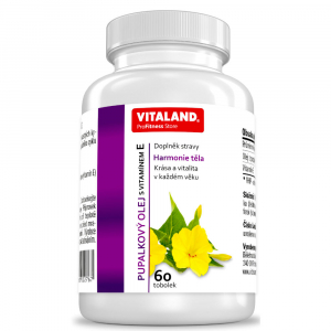 VITALAND Pupalkový olej s vitamínom E 60 kapsúl