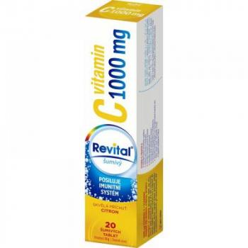 REVITAL Vitamín C 1000 mg Citrón 20 šumivých tabliet