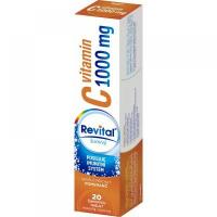REVITAL Vitamín C 1000 mg Pomaranč 20 šumivých tabliet