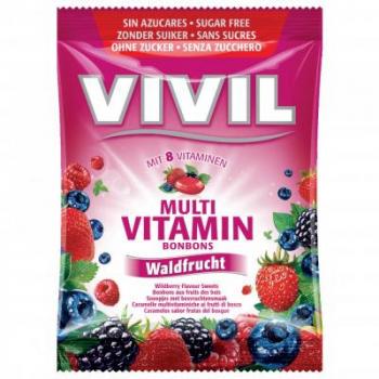 Vivil Multivitamín lesní plody 8 vitamínů bez cukru 60 g