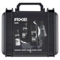 AXE Darčekové balenie Black v kufríku antiperspirant, dezodorant, sprchový gél, voda po holení 150 ml + 150 ml + 400 ml + 100 ml