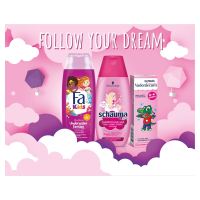 FA, SCHAUMA, VADEMECUM Darčekové balenie pre dievčatká sprchový gél, šampón, zubná pasta 250 ml + 250 ml + 50 ml