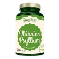 GREENFOOD NUTRITION Vláknina psyllium 96 kapsúl