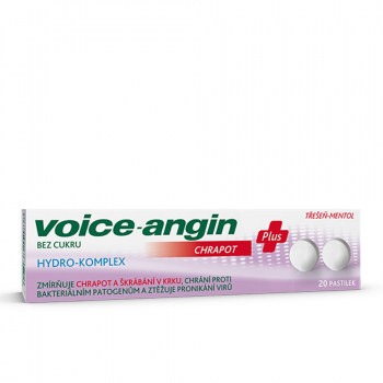 VOICE-ANGIN pastilky Chrapot plus pastilky 20 kusov
