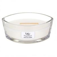 WOODWICK Vonná sviečka loď White Tea & Jasmine 453,6 g