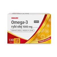 WALMARK Omega-3 rybí olej forte 130+65 kapsúl NAVYŠE