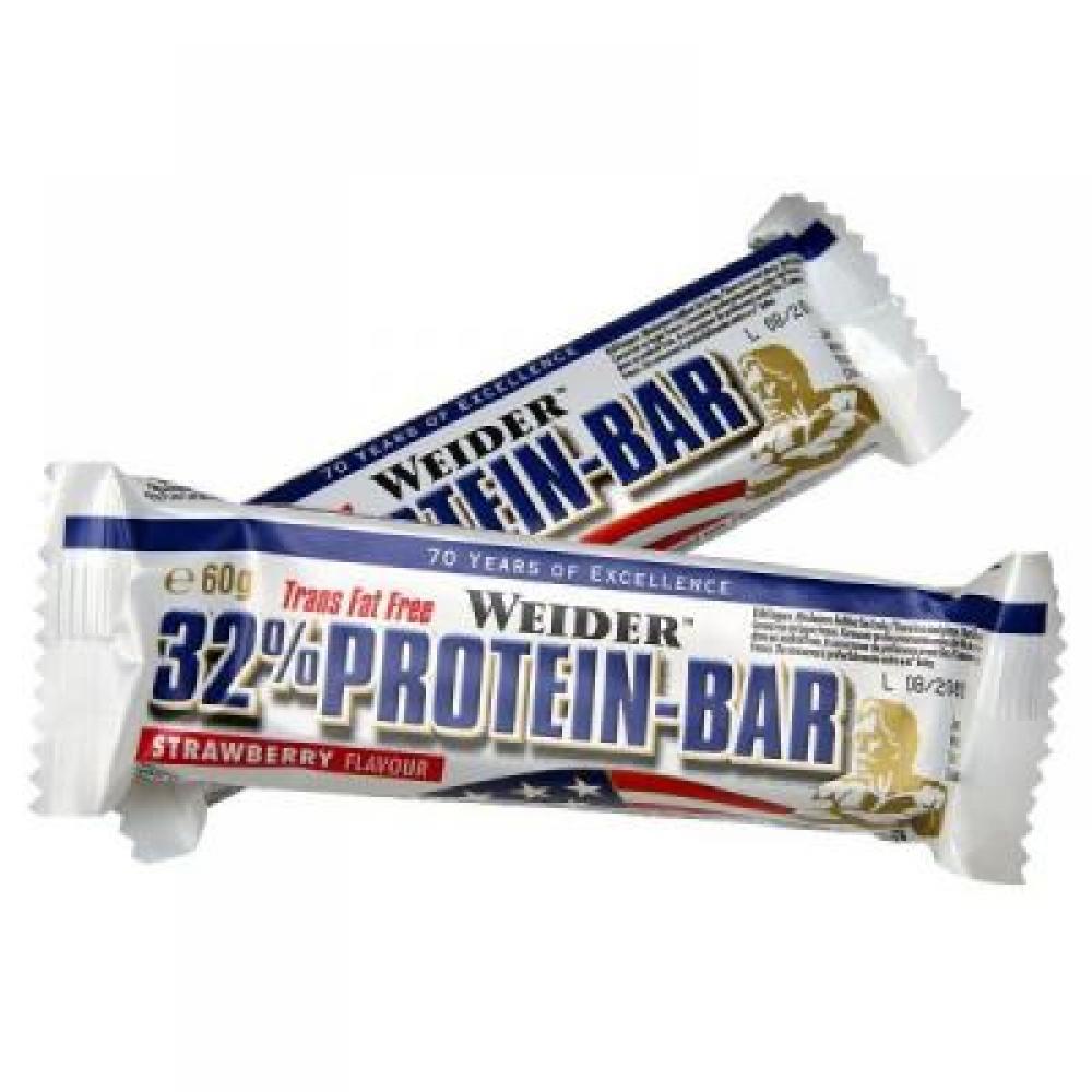 32% Protein Bar, proteínová tyčinka, 60 g, Weider - Biela Čokoláda-Banán