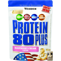 Weider, Protein 80 Plus, 500 g - Raspberry-Cream