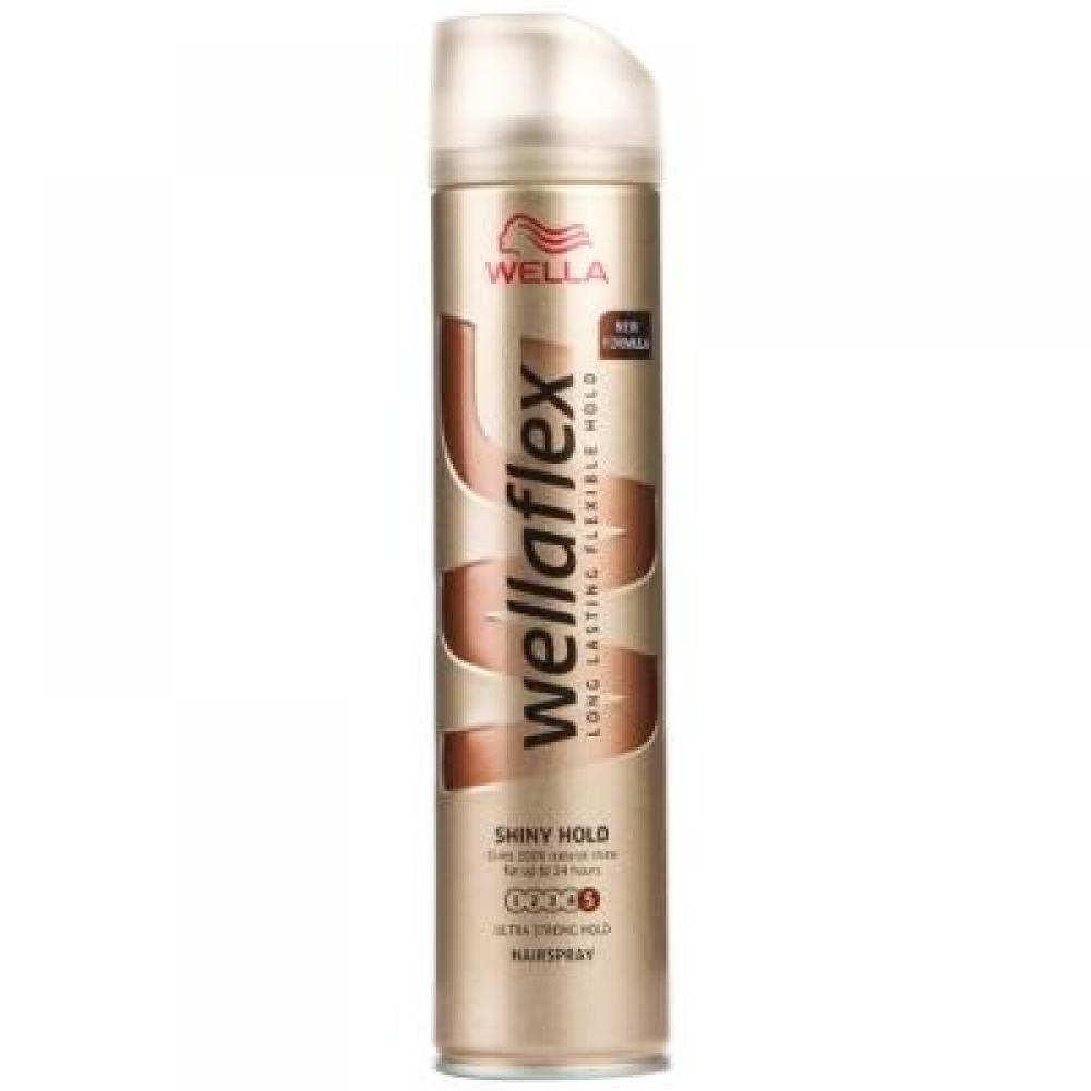 Wellaflex Shine & hold lak na vlasy 250 ml
