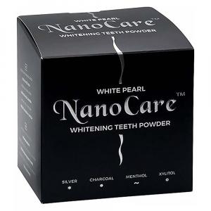 WHITE PEARL NanoCare bieliaci zubný púder s aktívnym uhlím 30 g