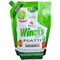 WINNI´S Piatti Lime Ecoricarica – hypoalergénny umývací prostriedok na riad 1000 ml