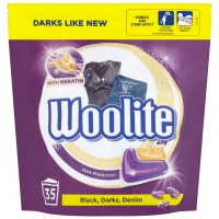 WOOLITE Black Darks Denim gélové kapsule na pranie 35 ks