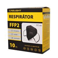FFP2 Respirátor 10 ks Čierny