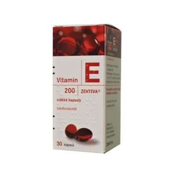 ZENTIVA Vitamín E 200 mg 30 kapsúl