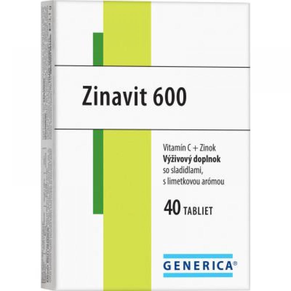 Generica Zinavit 600 mg limetka 40 tabliet