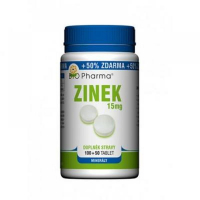 BIO PHARMA Zinok 15mg 100+ 50 tabliet